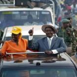 Uganda's President Yoweri Museveni (R), with his wife Jane in  Kampala,   file.  REUTERS/James Akena