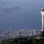 Tourists visit the Christ the Redeemer statue in Rio de Janeiro.  REUTERS/Ricardo Moraes