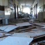 A still image taken from a video posted on social media said to be shot on November 14, 2016, shows the damage inside a hospital, said to be in the rebel-held town of Atareb in the countryside west of Aleppo, Syria.Social Media