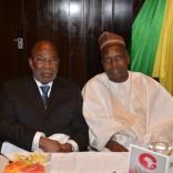 Monsieur Gervais Djondo, Fondateur d'Ecobank et Asky Airlines, et Monsieur Konimba Sidibé, Ministre de la Promotion des Investissements et du Secteur privé au Mali