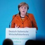 German Chancellor Angela Merkel delivers a speech at the German-Italian economic conference in Berlin, Germany, January 18, 2017. REUTERS/Hannibal Hanschke