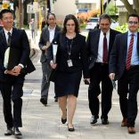 Hawaii Attorney General Douglas Chin (L) arrives at the U.S. District Court Ninth Circuit to present his arguments after filing an amended lawsuit against President Donald Trump's new travel ban in Honolulu, Hawaii, March 15, 2017. REUTERS/Hugh Gentry