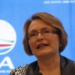 Former   Democratic Alliance (DA) leader Helen Zille speaks at a news conference in Cape Town, January 28, 2014.    REUTERS/Mike Hutchings