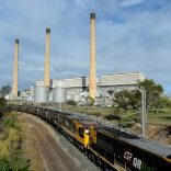 A coal train leaves the Gladstone Power Station in Gladstone, Queensland, Australia, July 2013.  AAP/Dan Peled/via REUTERS