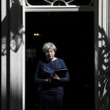 Britain's Prime Minister Theresa May prepares to speak to the media outside 10 Downing Street.      REUTERS/Stefan Wermuth