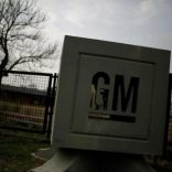 The GM logo is seen at the General Motors Assembly Plant in Valencia, Venezuela April 21, 2017. REUTERS/Marco Bello
