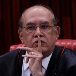 President of the Superior Electoral Court Gilmar Mendes gestures during a session where Brazil's electoral court will take up 2014 case that could unseat President Michel Temer, in Brasilia, Brazil June 8, 2017. REUTERS/Ueslei Marcelino