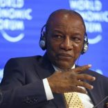 Alpha Conde, President of Guinea attends the World Economic Forum (WEF) annual meeting in Davos, Switzerland January 19, 2017.  REUTERS/Ruben Sprich/Files