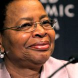 Graça Machel will receive the Diamonds Do Good Global Humanitarian Award from the Diamond Empowerment Fund on June 4 in Las Vegas, Nev. This photo was taken during the World Economic Forum on Africa in Dar es Salaam, Tanzania in May 2010. (Wikimedia Commons)