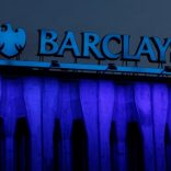 FILE PHOTO: The logo of Barclays is seen on the top of one of its branches in Madrid, Spain, March 22, 2016. REUTERS/Sergio Perez/File Photo