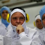 FILE PHOTO: Brazil's Agriculture Minister Blairo Maggi looks on during a technical visit at the Brazilian meatpacker JBS SA in the city of Lapa, Parana state, Brazil, March 21, 2017. REUTERS/Ueslei Marcelino/File photo