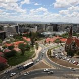 A general view of the city and Christ Church in Windhoek, Namibia, February 24, 2017.   REUTERS/Siphiwe Sibeko