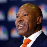 South Africa's Reserve Bank Governor Lesetja Kganyago speaks during a television interview at the World Economic Forum on Africa 2017 meeting in Durban, South Africa, May 4, 2017. REUTERS/Rogan Ward
