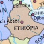 Map of Ethiopia and Eritrea.